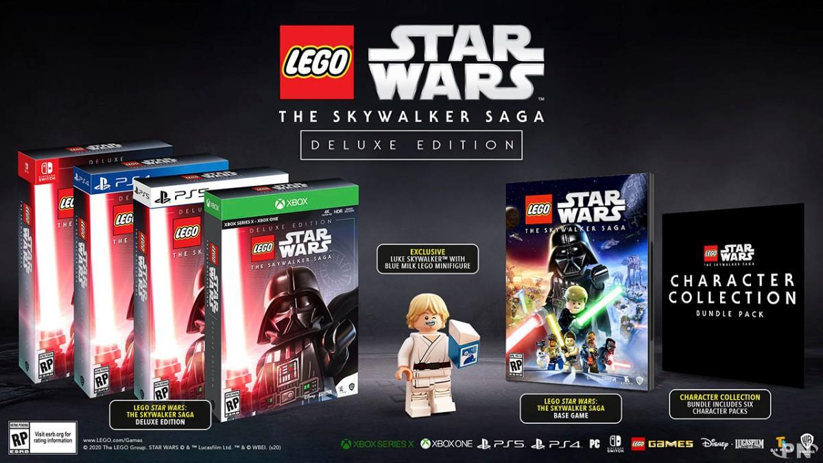 Lego Star Wars: The Skywalker Saga Deluxe Edition annoncé sur Nintendo Switch avec la figurine de Luke Skywalker