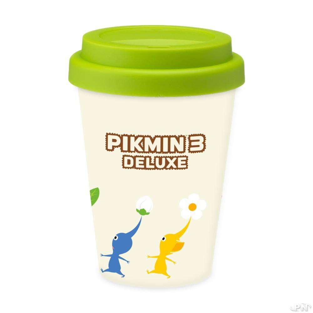 Gros plan sur le mug Pikmin 3 Deluxe