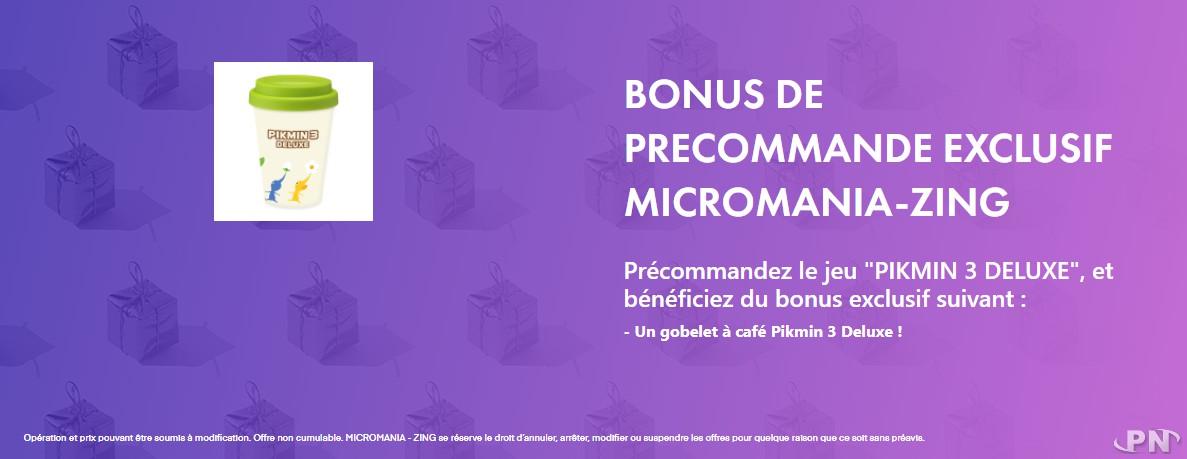 Bonus de précommande Pikmin 3 Deluxe Micromania