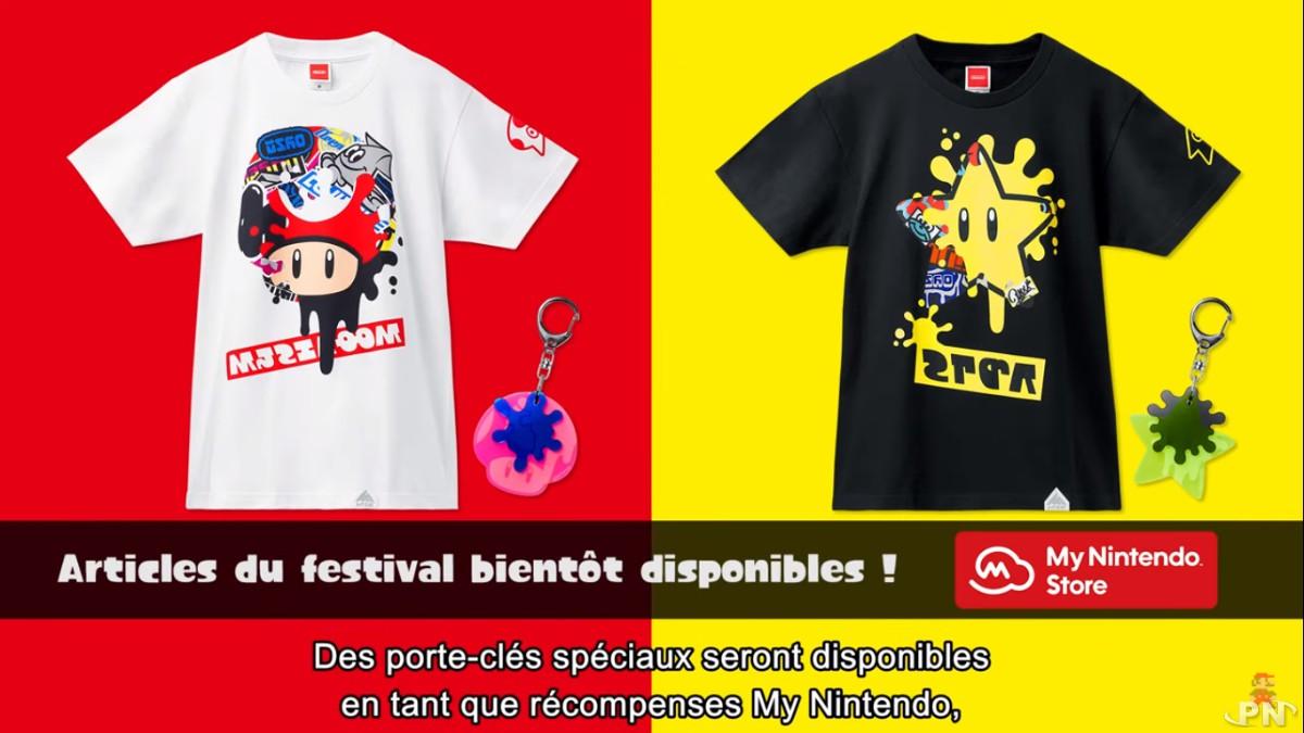 T-shirts Splatoon Super Mario Bros