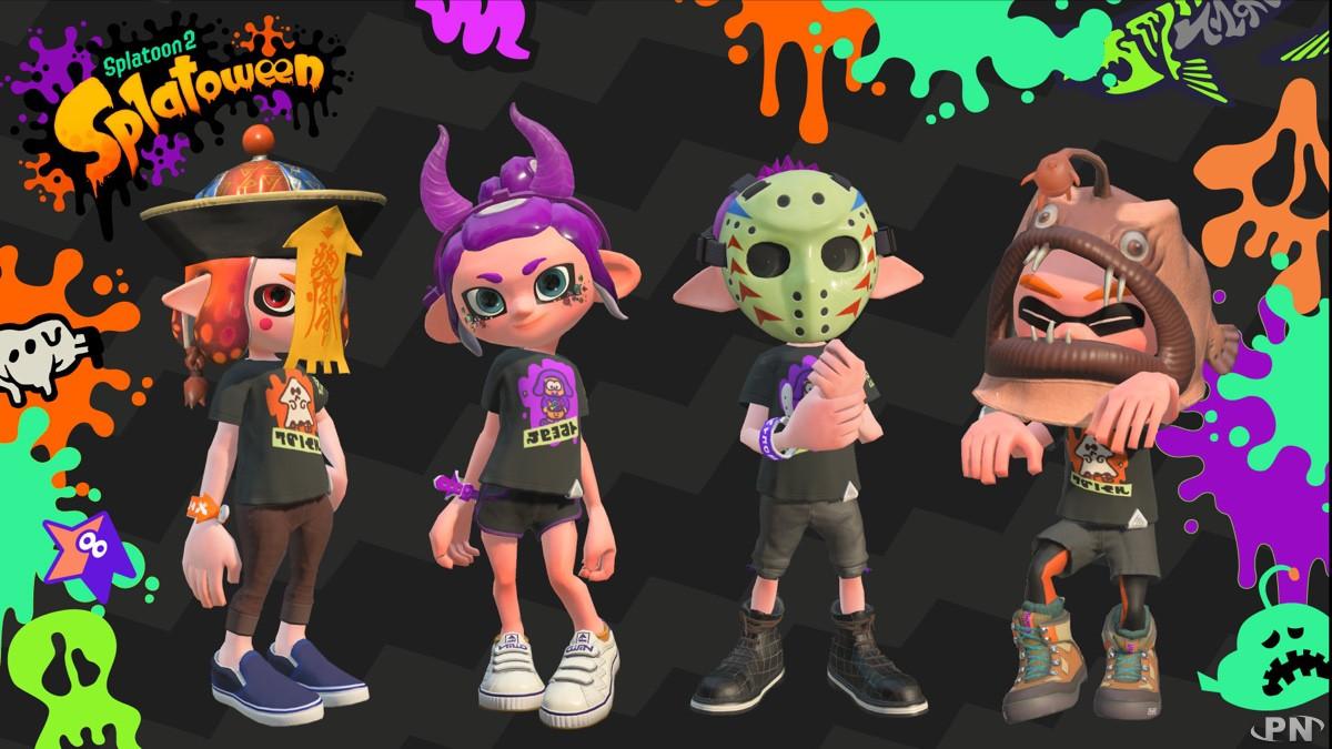Tenues spéciales offertes via les Nouvelles Nintendo pour le Splatoween