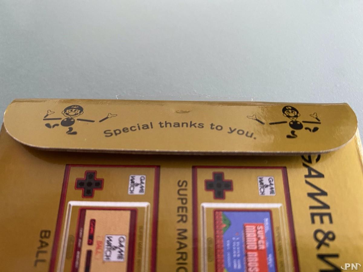 Special Thanks to you à l'ouverture de la Game & Watch Super Mario Bros !