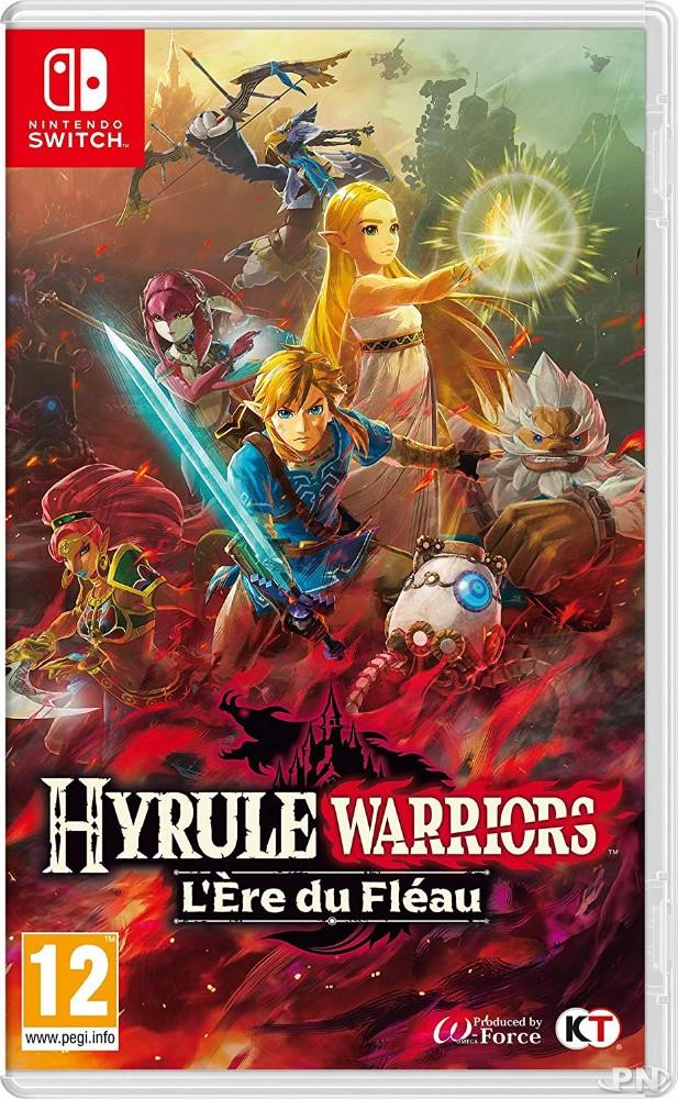 Jaquette PAL européenne d'Hyrule Warriors: L'ère du fléau sur Nintendo Switch