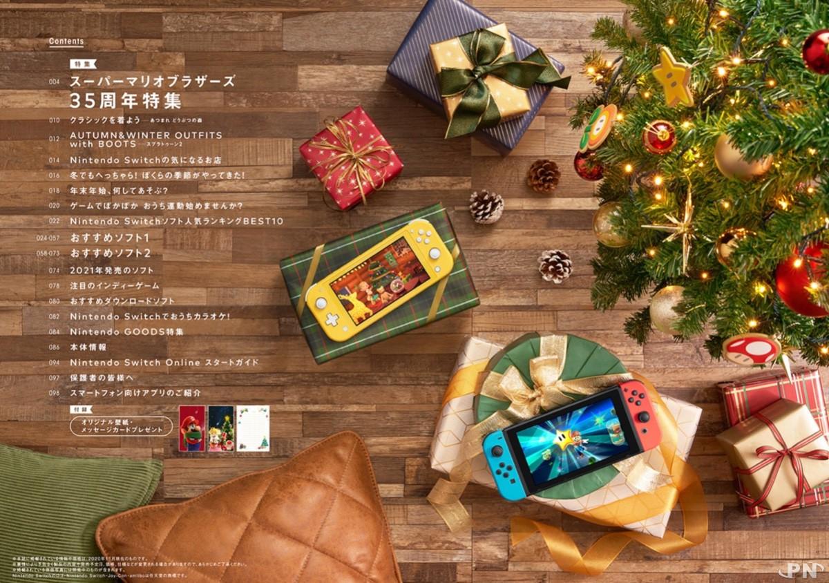 Sommaire du magazine officiel Nintendo japonais, édition Winter 2020