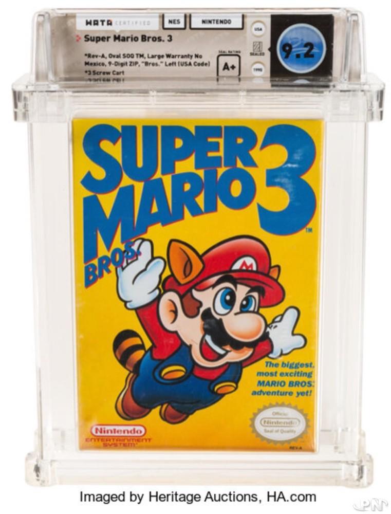 Enchère Super Mario Bros 3 première édition jaquette