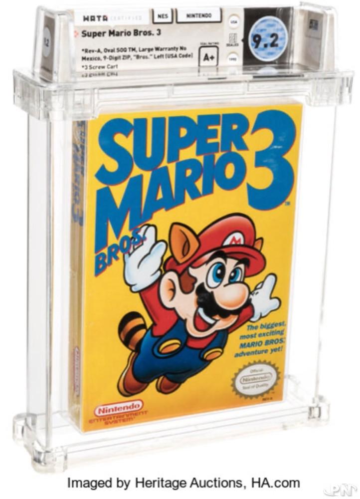 vente aux Enchères Super Mario Bros 3 aux USA