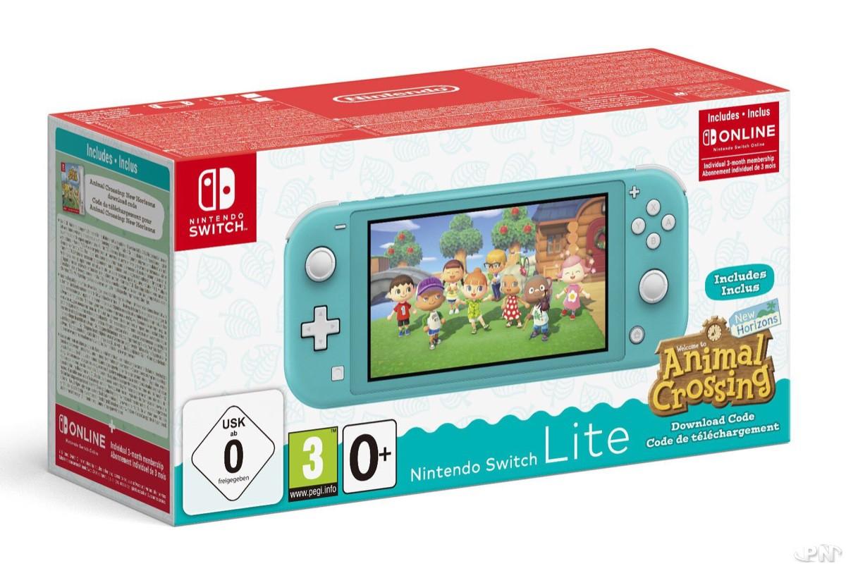 Nintendo Switch Lite Corail Animal Crossing: New Horizons