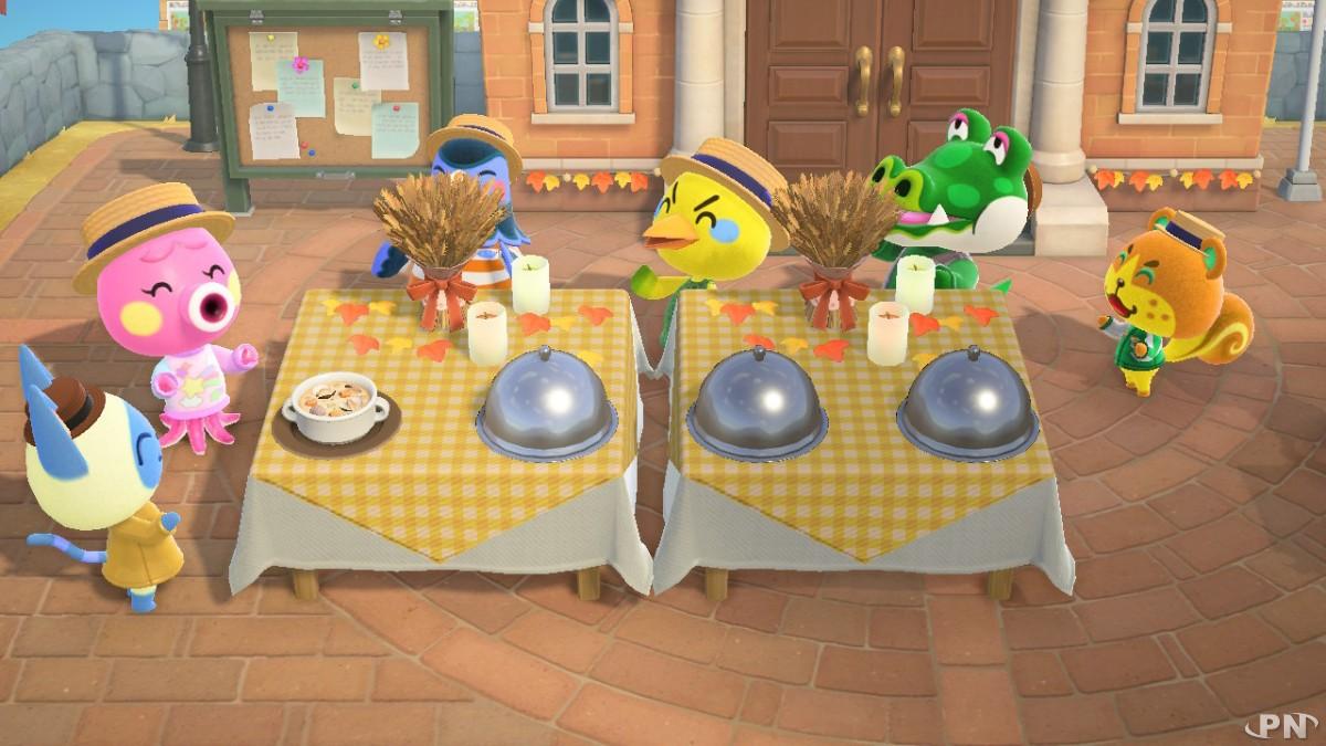 Recettes Jour du partage dans Animal Crossing: New Horizons
