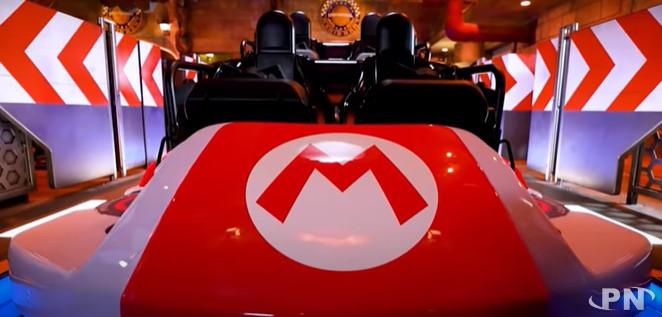 Le kart à l'intérieur duquel vivre l'attraction Mario Kart Koopa's Challenge