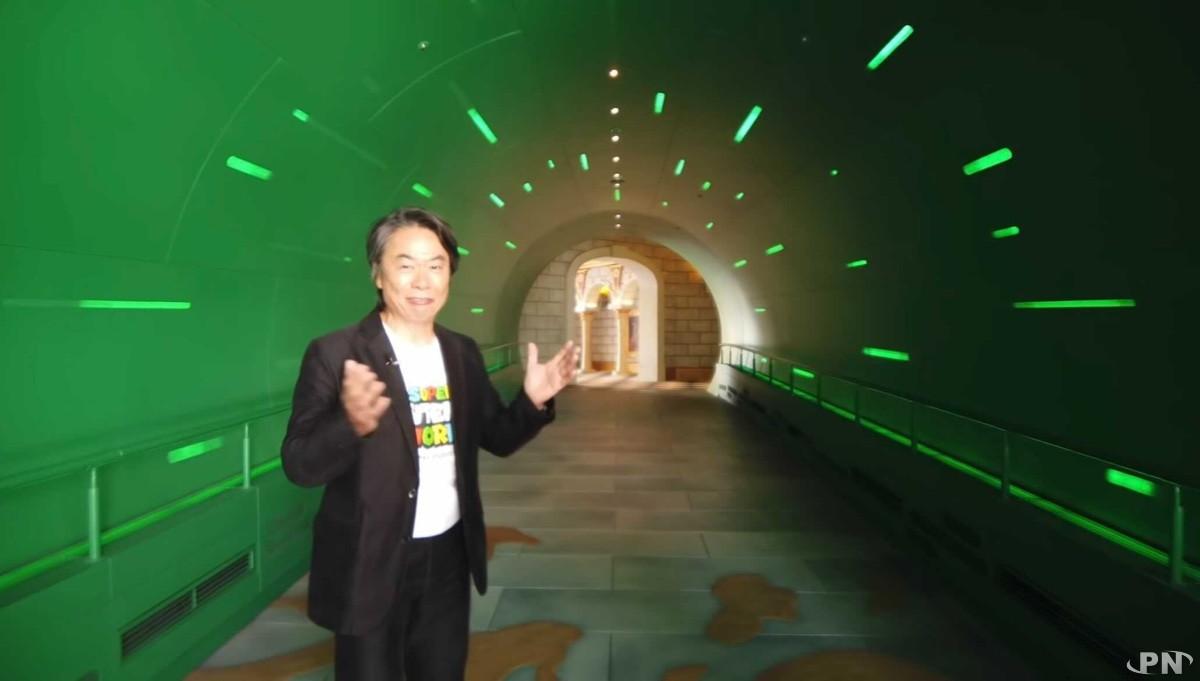 Shigeru Miyamoto nous accueille à l'entrée de Super Nintendo World