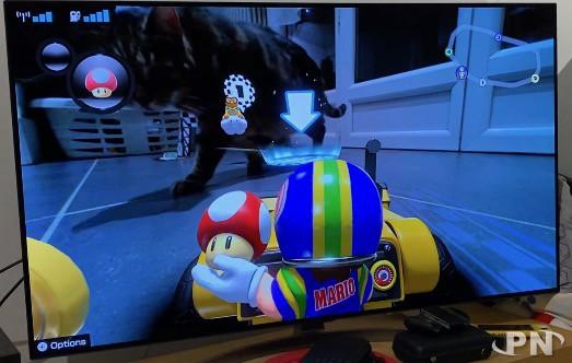 Les chats adorent Mario Kart Home Circuit
