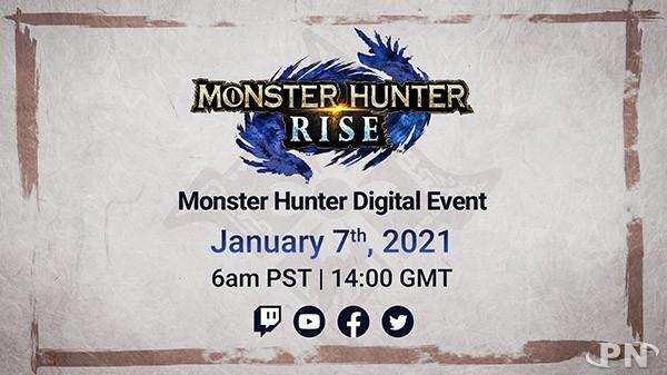 Evenement digital Monster Hunter Rise jeudi 7 janvier 2021 à 15h