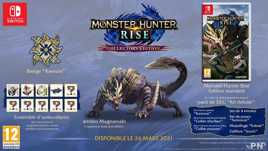 Que contient l'édition collector de Monster Hunter Rise Switch