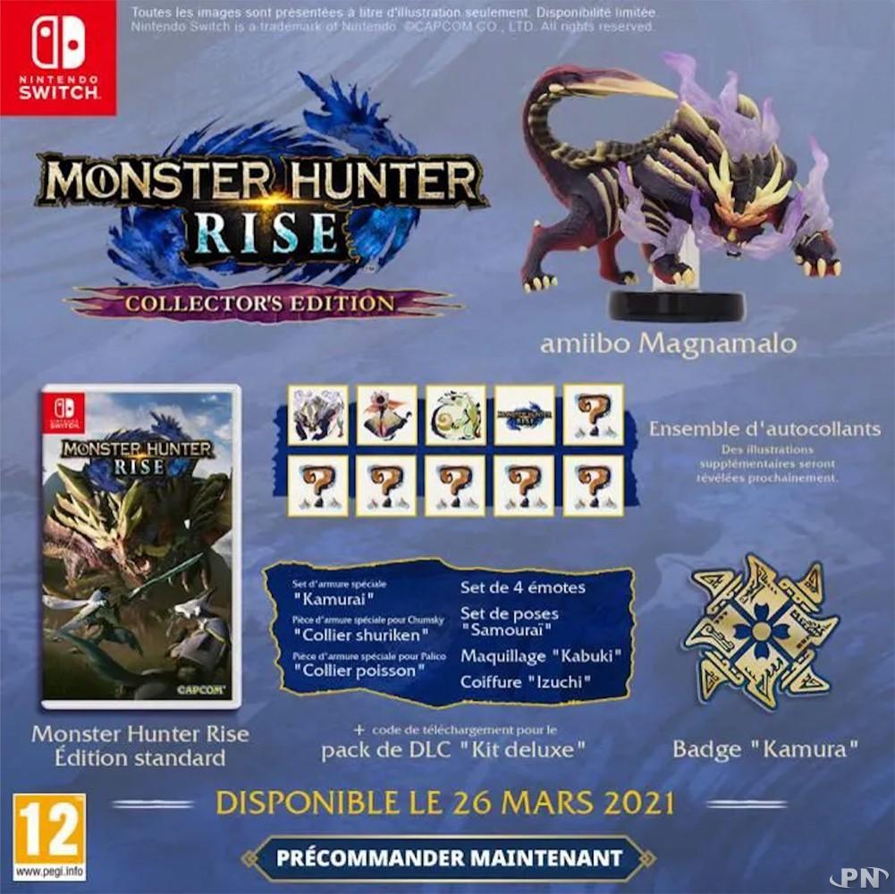 Contenu de l'édition collector Monster Hunter Rise (Nintendo Switch)