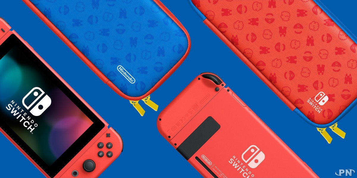 Sacoche de transport de la Switch Mario Red & Blue Edition