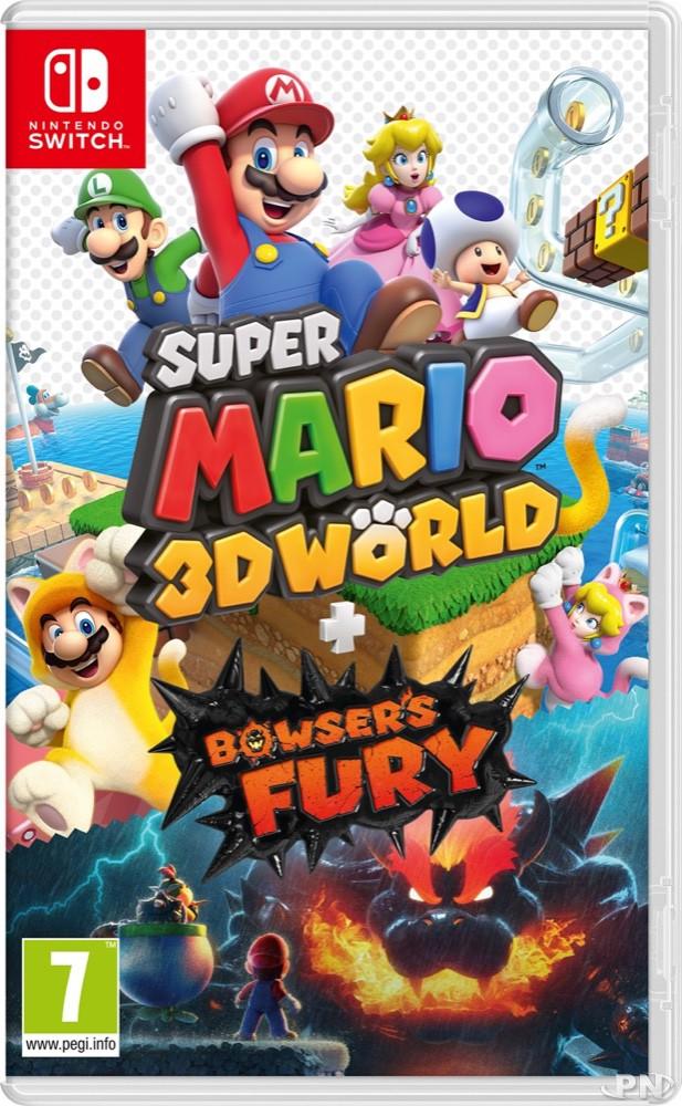 Jaquette Super Mario 3D World + Bowser's Fury sur Nintendo Switch