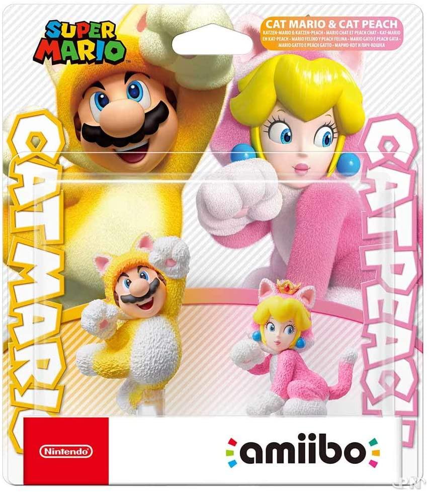 Lot de deux amiibo : Mario Chat et Peach Chat, pour Super Mario 3D World + Bowser's Fury (Nintendo Switch)