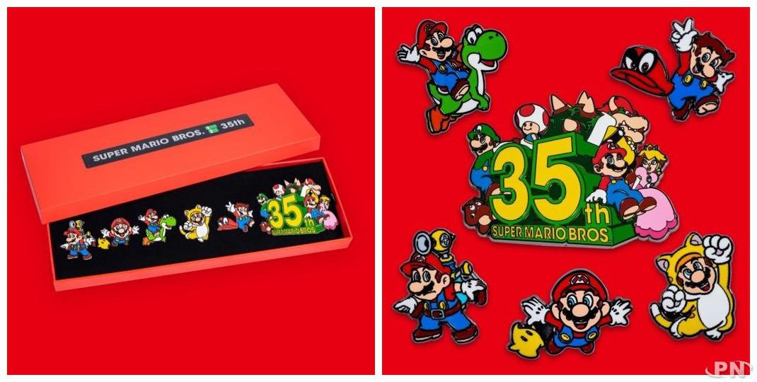 Un nouveau set de pin's collector pour les 35 ans de Super Mario Bros en Amérique du Nord