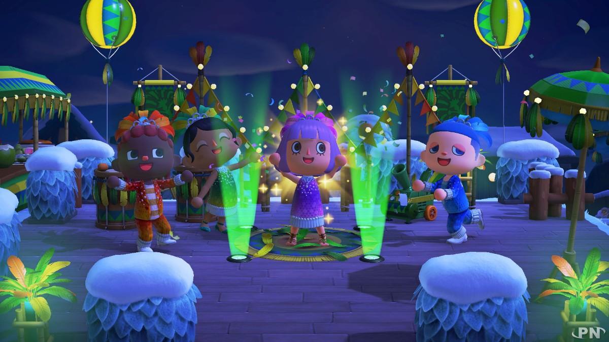 Le roi du carnaval, c'est vous, dans Animal Crossing: New Horizons