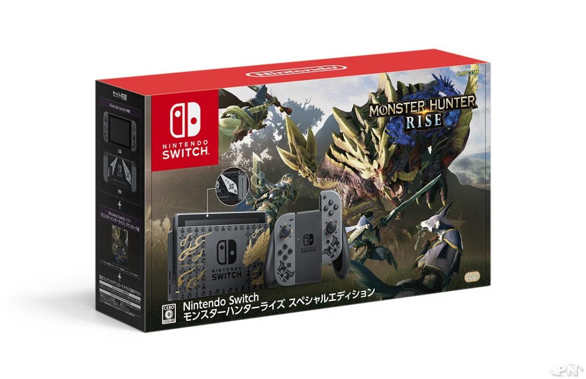 Pack de la Nintendo Switch Collector Monster Hunter Rise (Japon)