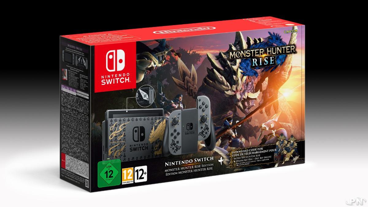 Packaging de la version européenne de la Switch collector Monster Hunter Rise
