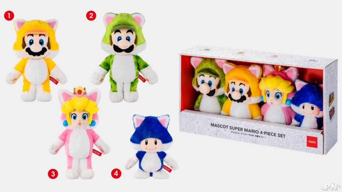 Peluches Super Mario 3D World + Bowser's Fury (Nintendo TOKYO Store)