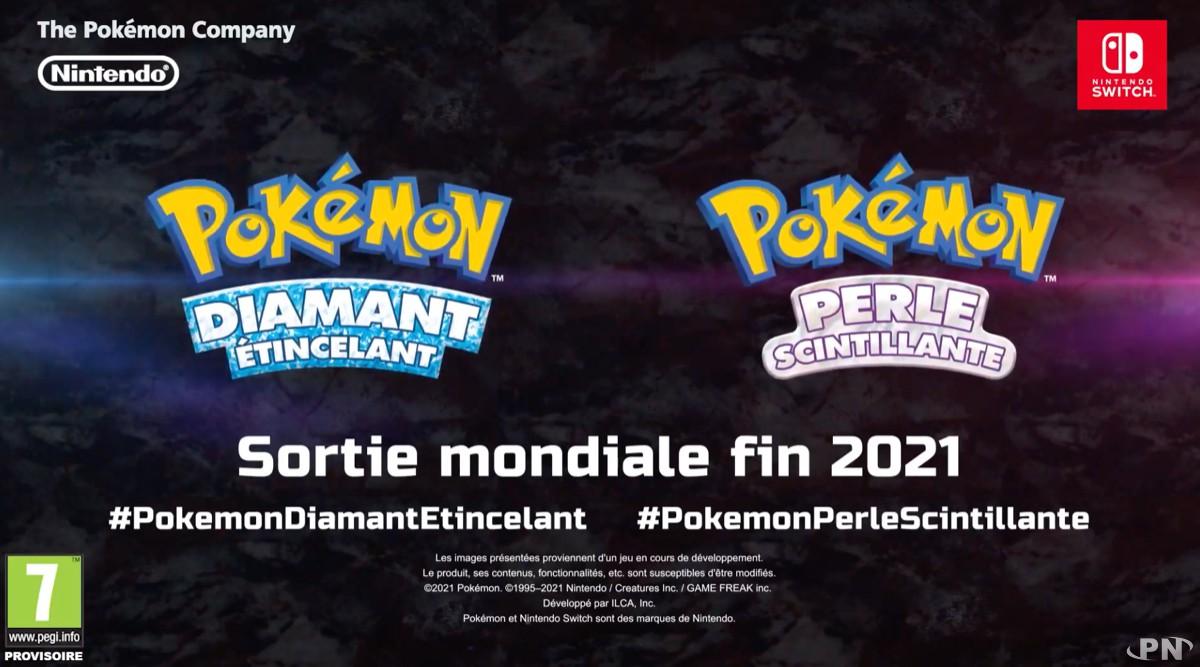 Pokémon Diamant Scintillant et Perle Etincelante annoncé sur Switch
