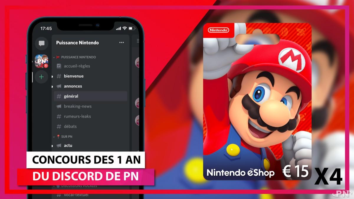Nouveau concours eShop : 4 cartes de 15€ à gagner sur Discord !