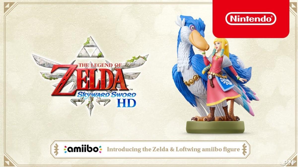 amiibo de Zelda avec son Célestrier pour The Legend of Zelda: Skyward Sword HD