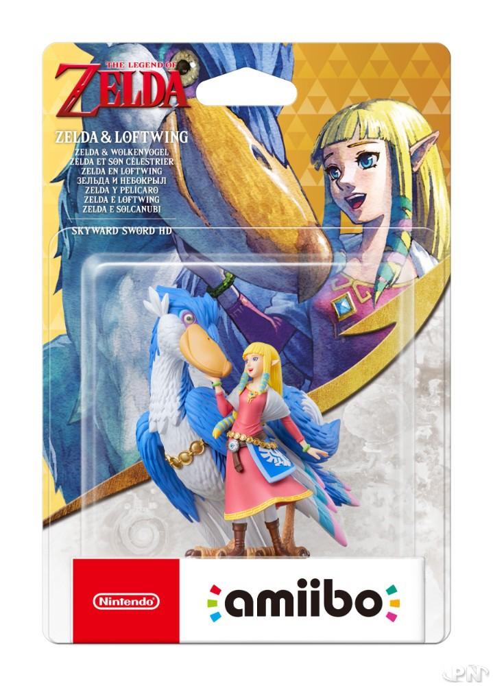 boite figurine amiibo Zelda & Célestrier (sortie le 16 juillet 2021)