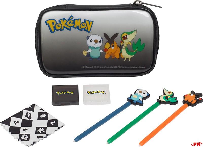 Accessoires pok mon noir et blanc en approche for Housse 3ds xl pokemon