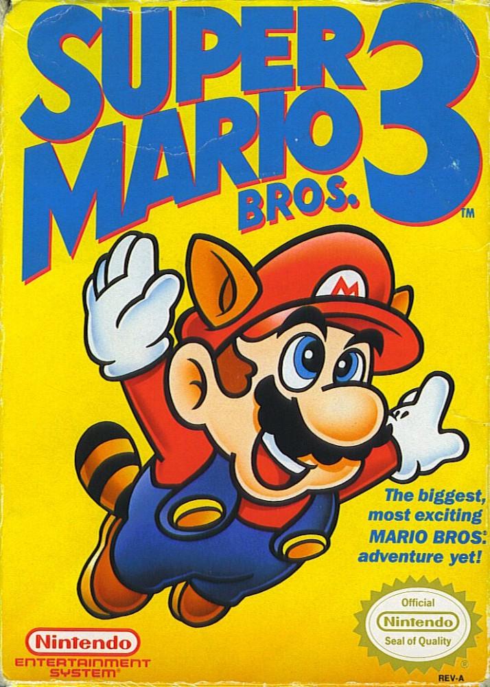 Jaquette modifiée de Super Mario Bros 3 sur NES aux USA