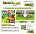 Capture de site web de Mario Tennis Open sur 3DS