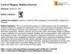 Capture de site web de Lord of Magna : Maiden Heaven sur 3DS