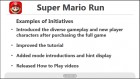 Infographie de Super Mario Run sur Mobile