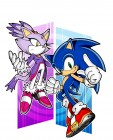 Artworks de Sonic Rush sur NDS